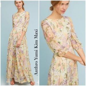 Anthro Floral Woodstock Maxi Dress by Yumi Kim NWT